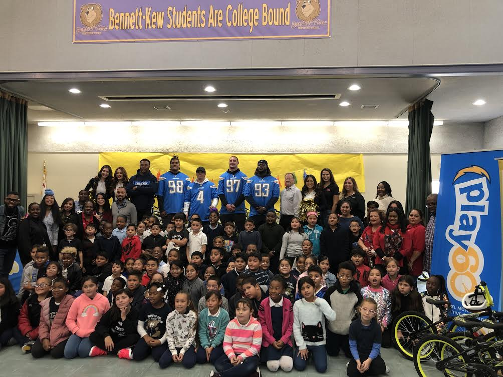 Chargers Surprise Local Students For Holiday Season (VIDEO)